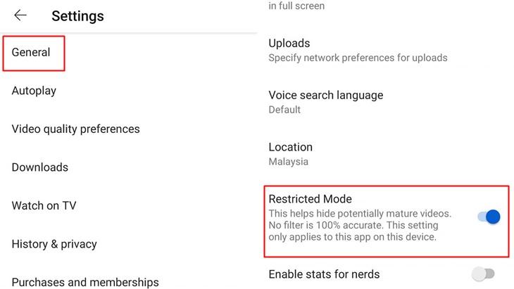 Cara 'Setting' YouTube Untuk Tapis Kandungan Tidak Senonoh Untuk Tontonan Anak-Anak 1