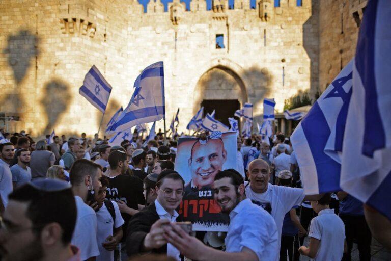 Israel Hina Nabi Muhammad Perarakan Bendera