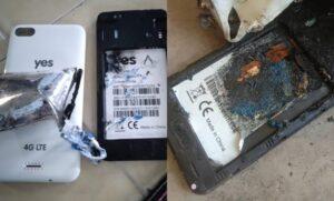 Telefon Terbakar YES Altitude Selamat Digunakan