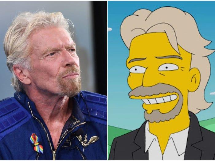 The Simpson Ramal Richard Branson Ke Angkasa Lepas