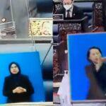 Aksi Jurubahasa Isyarat Terjemah Isi Sidang Mesyuarat Khas Dewan Rakyat Undang Simpati Netizen 4