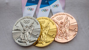 April,17,,2021,Tokyo,,Japan.,Gold,,Silver,And,Bronze,Medals