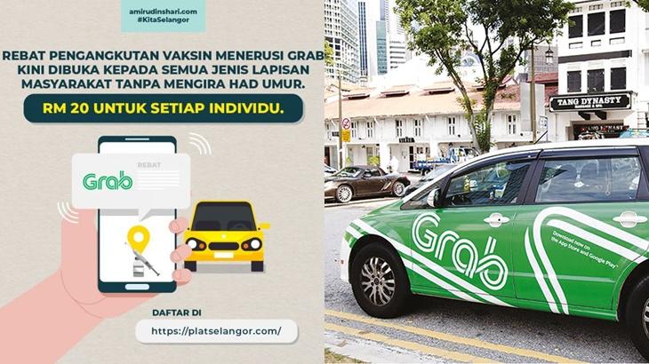Cara Rebat RM20 Grab Ke PPV Selangor