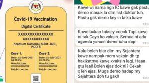 Individu Anti-Vaksin Cuba 'Eja' Petugas Tipu Sijil Vaksin Di MySejahtera 4