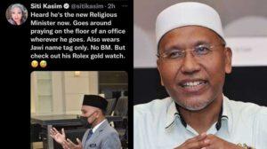 jam tangan Menteri Agama Idris Ahmad