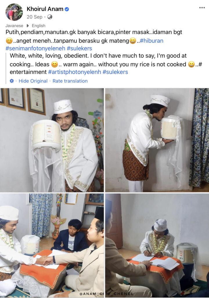 Lelaki Nikahi Periuk Nasi