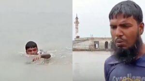 Kisah Lelaki Yang Sanggup Berenang Demi Tunai Solat Di Masjid Yang Dilanda Banjir 3