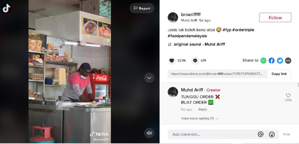 Mungkin Tak Tahan Kena 'Sidai', rider foodpanda Turun Padang Tebar Roti Canai 1