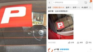 Pelekat Lesen P JPJ Dijual Di Taobao China